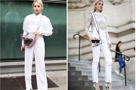 白裤子的优雅气质,女生穿起来不显胖的诀窍