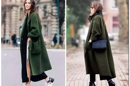 今冬时尚墨绿当道,女生不能缺少的气质穿搭