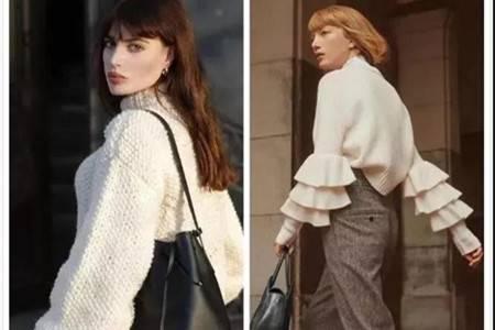 白毛衣清爽气质,女生配出漂亮穿搭